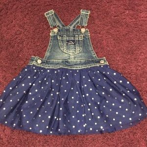 Denim skirt overalls by Jordache